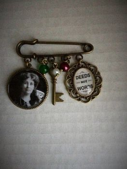 Emmeline Pankhurst / Deeds Not Words Pin Brooch