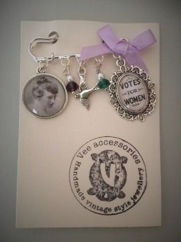 Emily Davison / Votes For Women / Suffragette Pin Brooch