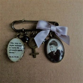 Ida B Wells Pin Brooch