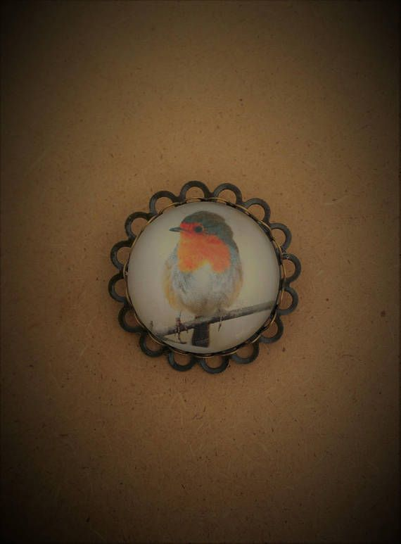 Robin Pin Brooch