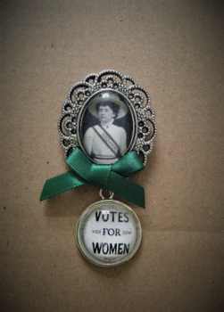 Emily Davison / Votes for Women Fob Brooch