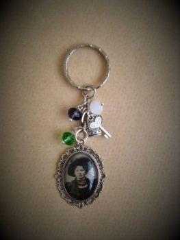 Christabel Pankhurst Suffragette Keyring / Keychain / Bag Charm