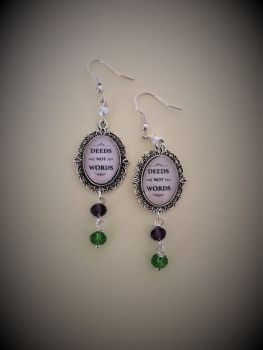 Deeds Not Words Earrings