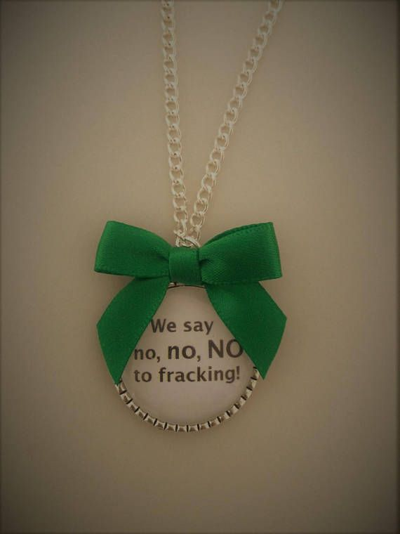 We Say No No NO to Fracking! Necklace / Donation to KMPC