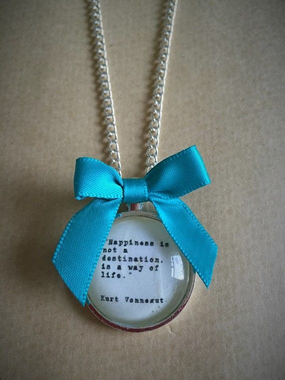 Happiness Quote Necklace