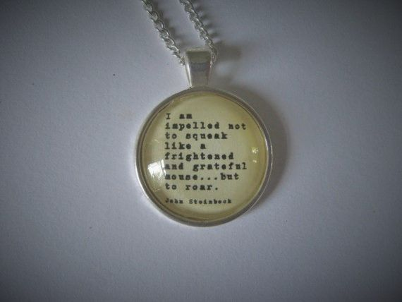 Steinbeck Quote Necklace