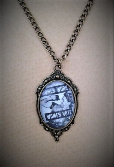 Women Work / Women Vote Necklace