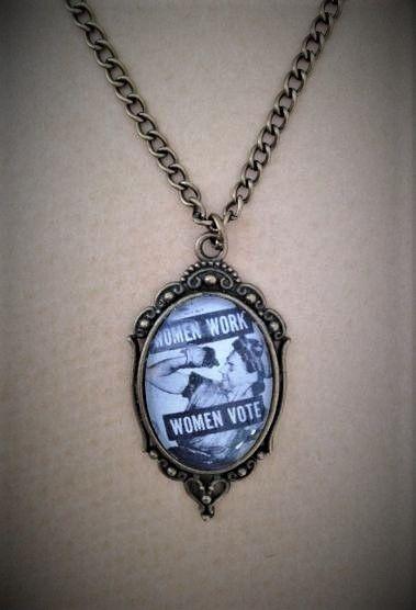 Women Work / Women Vote Necklace
