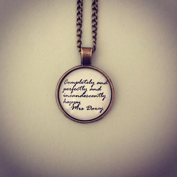 Mrs Darcy Quote Necklace - Pride & Prejudice