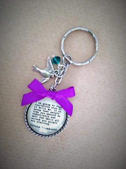 Sylvia Pankhurst  Quotation Keyring / Keychain