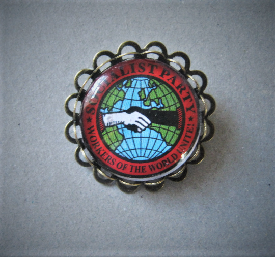 Socialist Workers of the World Pin Brooch