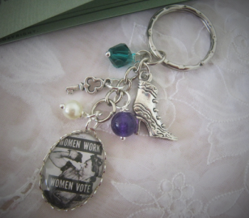 Women Work Women Vote Keyring