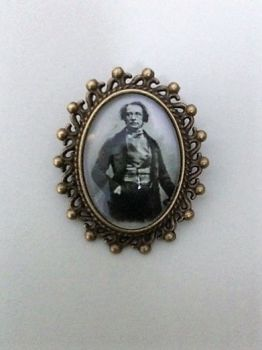 Charles Dickens Pin Brooch