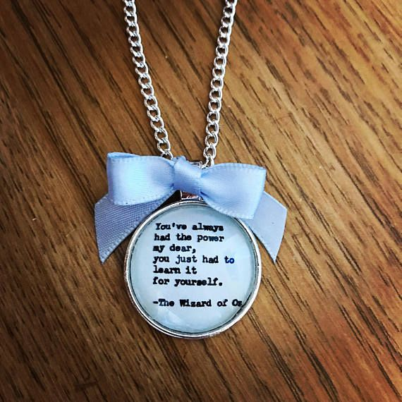 Wizard of Oz Power Quote Necklace