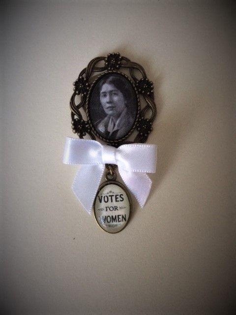 Sylvia Pankhurst Fob Brooch