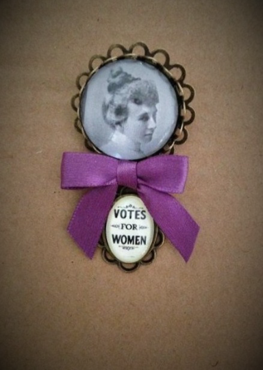 Emily/Votes for Women Fob Brooch