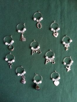 Wedding / Shower / Engagement Party Wine Glass Charms