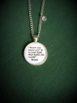 "Rumi ""Lights the World"" Quote Necklace"