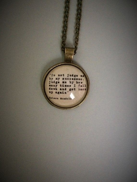 Nelson Mandela Quote Necklace