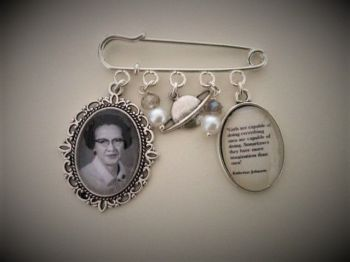 Katherine Johnson Quote Pin Brooch