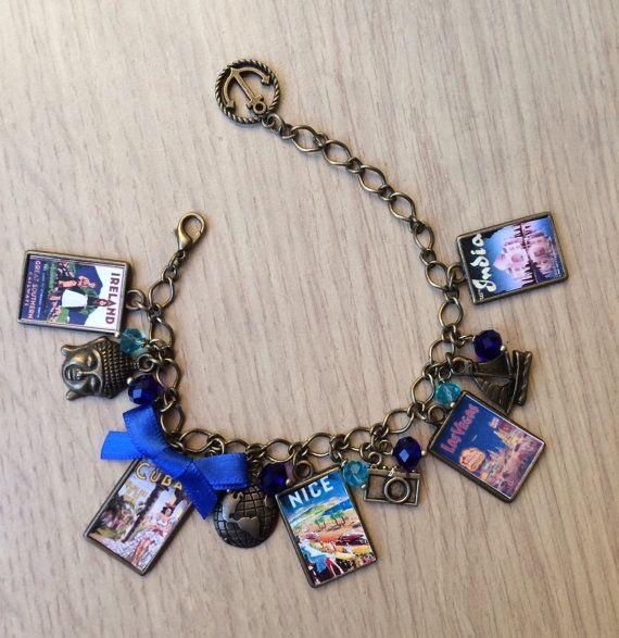 PERSONALISED Vintage Traveller  Bracelet
