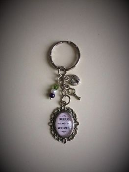 Deeds Not Words - Suffragette Keyring / Keychain