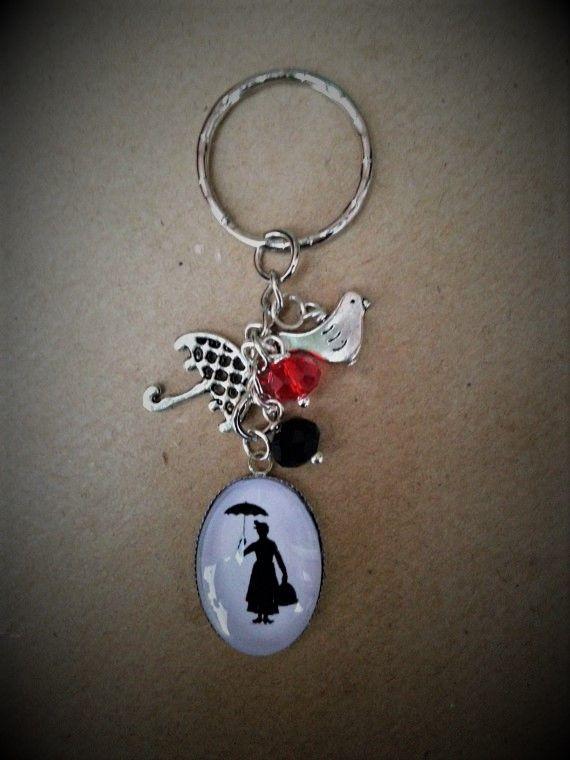 Mary Poppins Style Keyring / Keychain