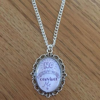 In Support of Rape Crisis RCTN - No Doesn't Mean Convince Me Necklace