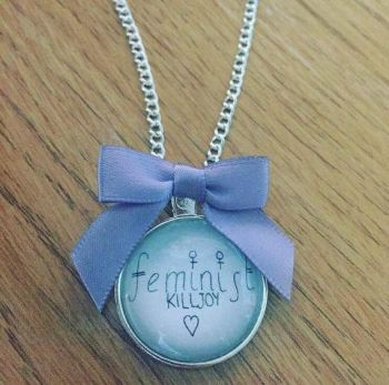 In Support of RCTN Rape Crisis- Feminist Killjoy Necklace