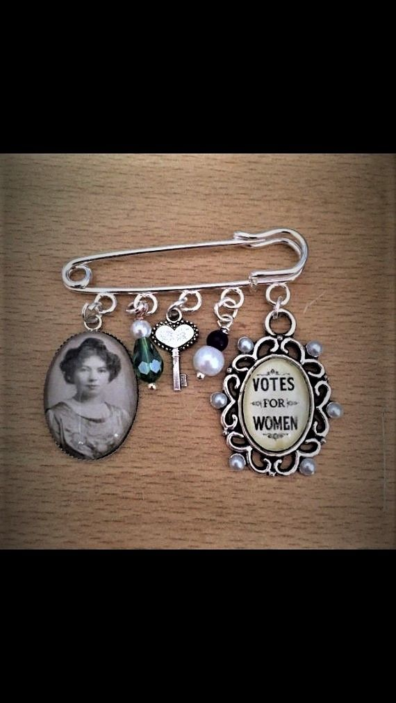 Christabel Pankhurst / Suffragettte Pin Brooch