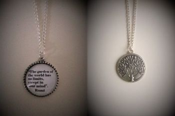 "Rumi ""Garden of the World"" Quote Necklace"