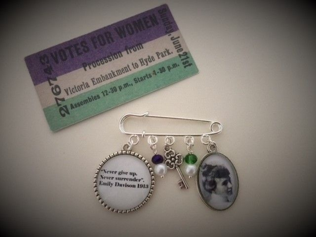 Emily Wilding Davison Pin Brooch
