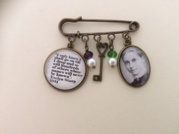 Evelyn Sharp Suffragette Pin Brooch