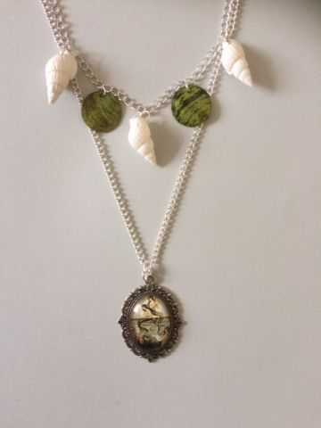 Mermaid Shell & Pendant Layered / Double Necklace