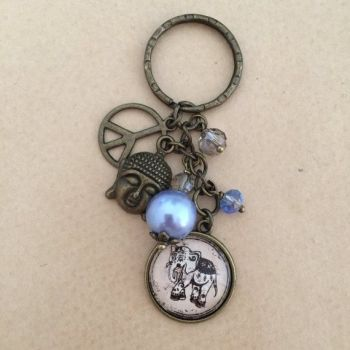 Elephants for Peace Keyring / Keychain