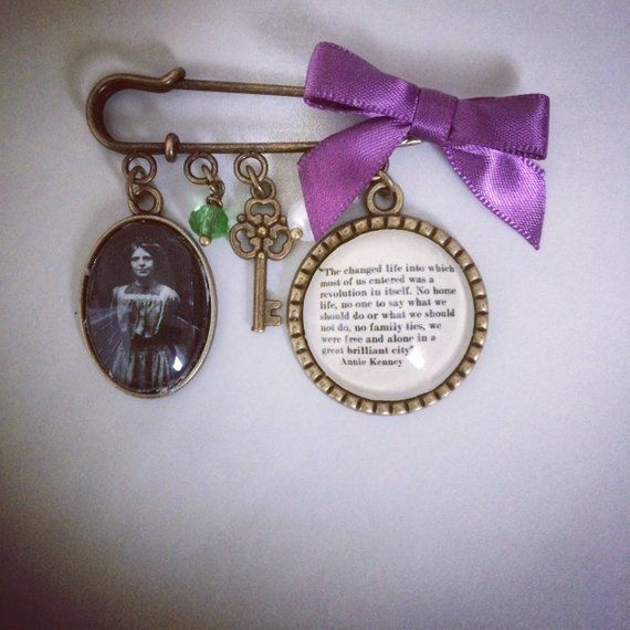 Suffragette Annie Kenney Brooch / Bag Pin