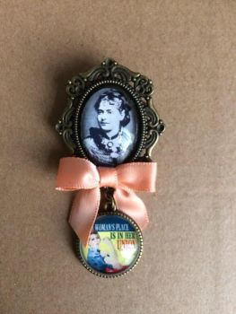 Eleanor Marx / Union Fob Brooch