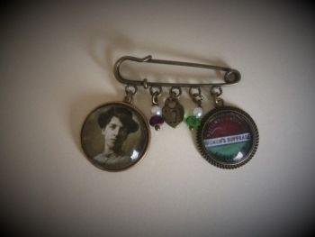 Helen Fraser / NUWSS / Scottish Suffragette / Pin Brooch