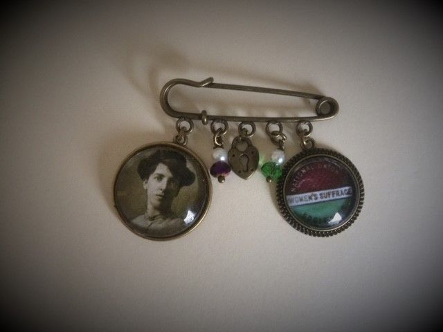 Helen Fraser / Scottish Suffragette / Pin Brooch