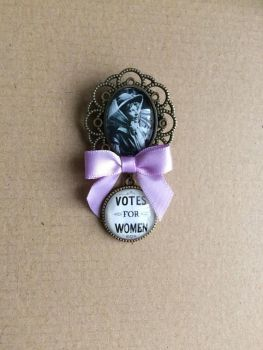 Muriel Matters / Votes for Women Fob Brooch