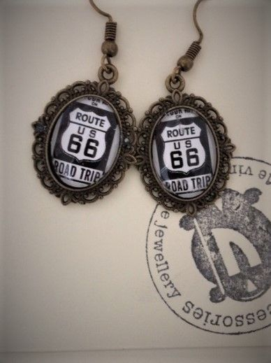 Route 66 Road Trip Earrings