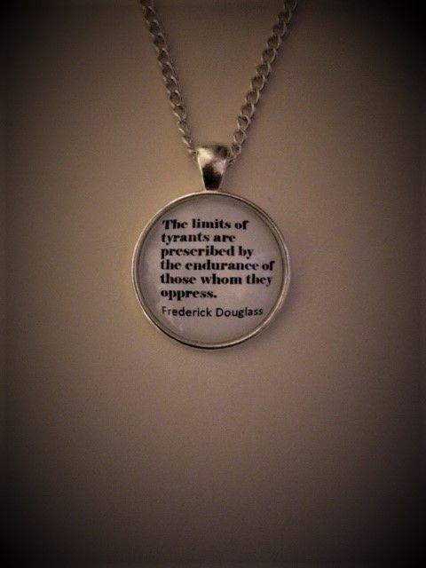 Frederick Douglas Quotation Necklace