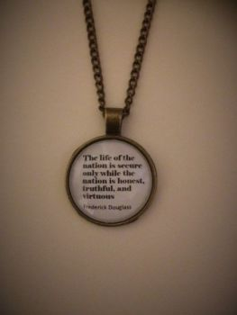 "Frederick Douglass ""Nation"" Quotation Necklace"
