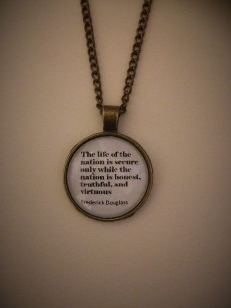 Frederick Douglass Quotation Necklace