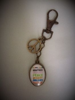 Human Rights Keyring / Keychain