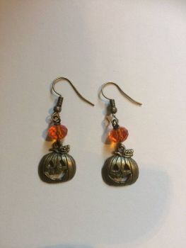 HALLOWEEN !!!   Pumpkin Jack O'Lantern Earrings