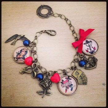 Sailor Jerry Tatoo Charm Bracelet