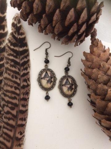 Halloween Vintage Witch Earrings