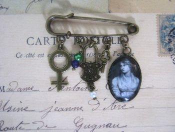 Mary Wollstonecraft Pin Brooch