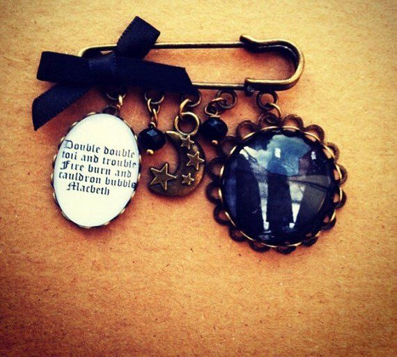 Macbeth Quotation Pin Brooch